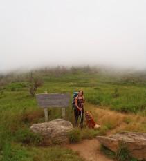 Backpacking Shining Rock, North Carolina.