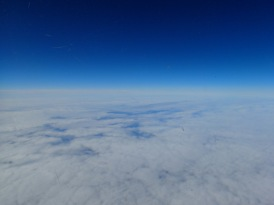 View from the flight south.