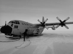 LC-130, refueling in the deep field.