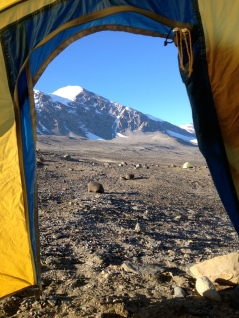 View of Dry Valleys from bed.