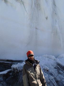 Dave in front of glacier.
