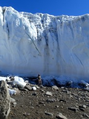 Dave standing in front of glacier.