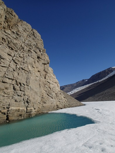 Melt pool in the Dry Valleys.
