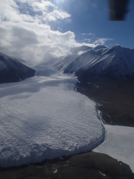 Dry Valleys and glacier.