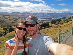 On our way Akaroa for wine and cheese! New Zealand.