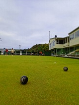 Lawn bowling in New Zealand.