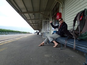 Waiting for a train, somewhere in New Zealand.