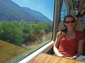 Train ride in New Zealand.