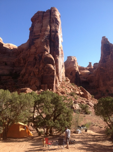 We've had some pretty sweet camping spots.