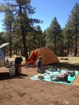 Campin' and climbin'.