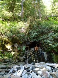 Hot springs in the Cascade Mtns. of Washington.