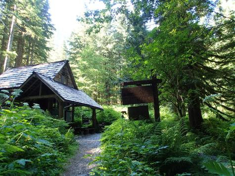 The cabin we were caretakers at in the Cascade Mtns. of Washington.