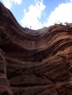 Canyoneering in Zion.