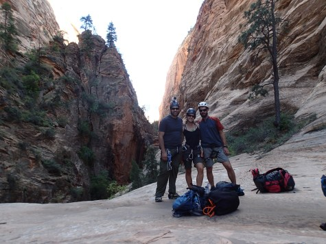 The end of a long hike to the start of a long canyon, Utah.