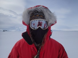 Janae during her sea ice course.