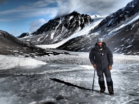 Dave in the Dry Valleys.