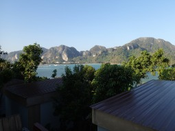 View from our bungalow in Ko Phi Phi, Thailand.