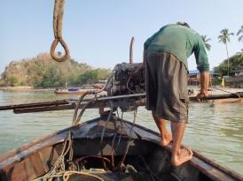 Long-tail boat in Ko Phi Phi, Thailand.