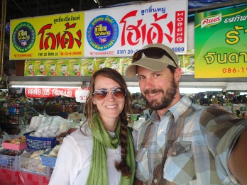 Local market on our way to our traditional Thai cooking course at Thai Farm, Chiang Mai, Thailand.