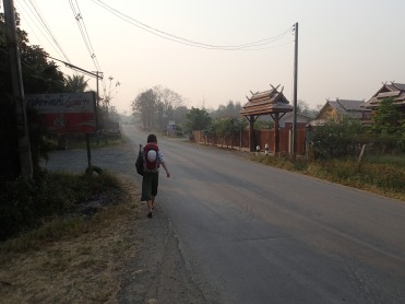 On our morning trek to climb Crazy Horse, Chiang Mai.