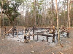 Funeral pyre, Thailand.