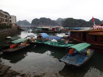 Cat Ba, Vietnam. Floating village.