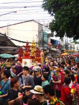Thai New Year's, Songkran, waterfight celebration.