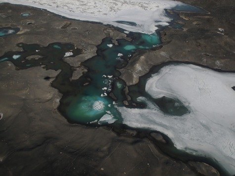 Melt pools. View from helo.