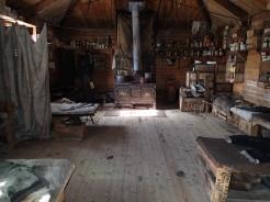 Inside Shackleton's Hut.