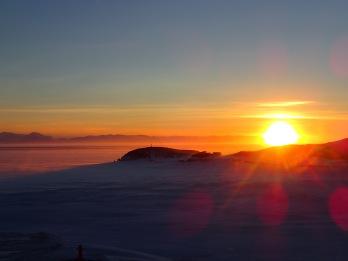 Hut Point sunset.