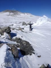 Janae on Mt. Erebus