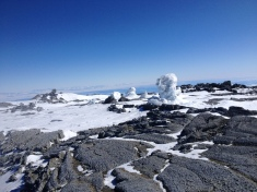 Fumaroles on top of Mt. Erebus