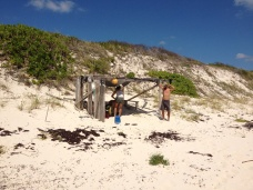 A little structure we found on a beach in the Bahamas.