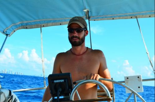 Dave at the helm.