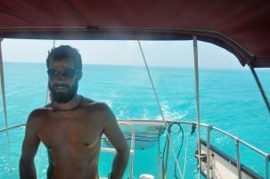 Island hopping in the Bahamas.