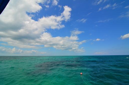 Sailing off the coast of the Florida Keys.