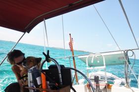 Island hoping in the Bahamas.