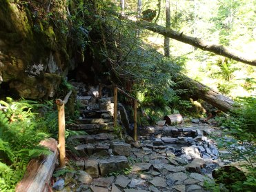 Hot springs in the Cascade Mts. of Washington.