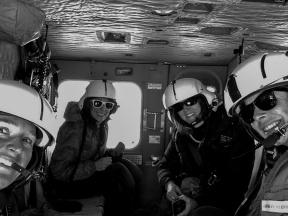 All ladies helo flight! Photo credit: Elizabeth Mockbee
