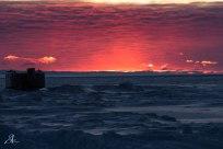 Last sunset in McMurdo, winter season. Photo credit: Steve Allinger