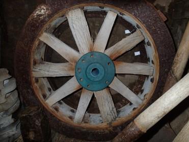 On wagon wheel at Shackleton's Hut