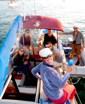 There's a lot of this when you're a liveaboard.