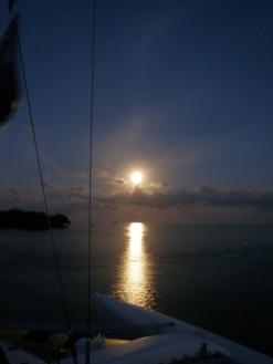 Bright moon while anchored out.