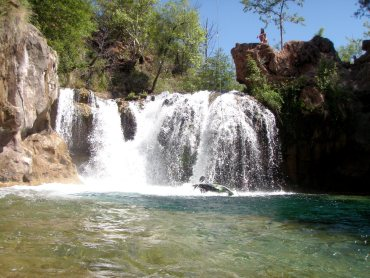 Hidden waterfall in Arizona.