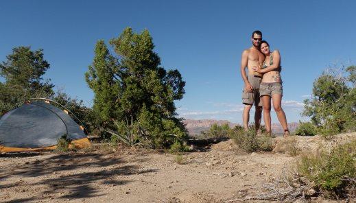 Camping in Utah.