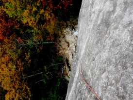 Us climbing Looking Glass in the Pisgah National Forest.
