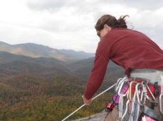 The end of our slab climb on Looking Glass.