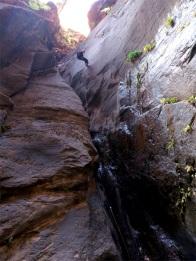 Canyoneering somewhere in Arizona.