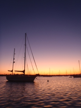 The evenings are the best time on a boat.