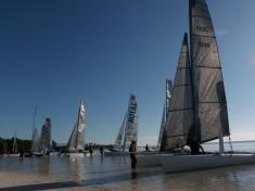 Sailboat racing.